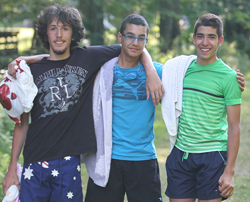 Be, Sanad, and Emil at PeaceCamp 2014