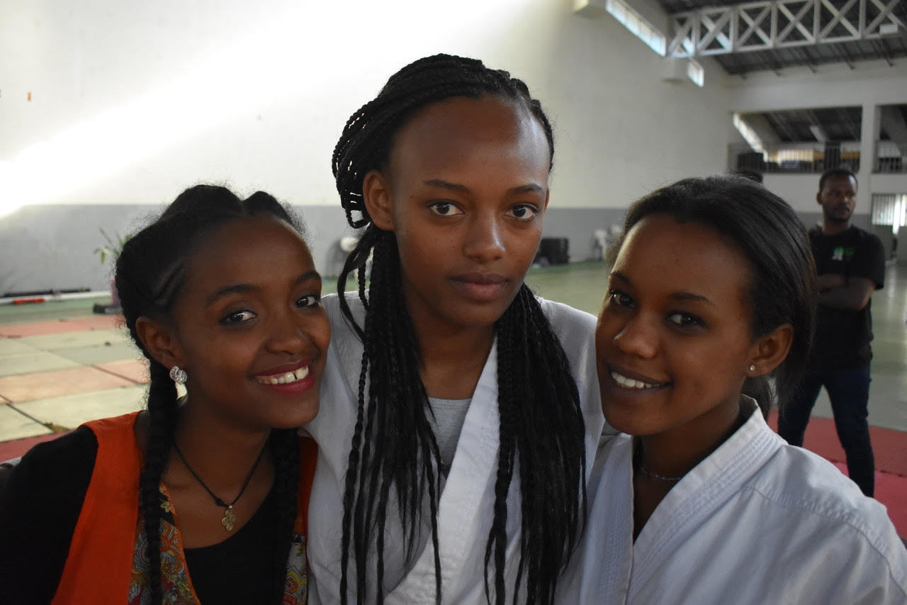 Girls at Aikido Ethiopia